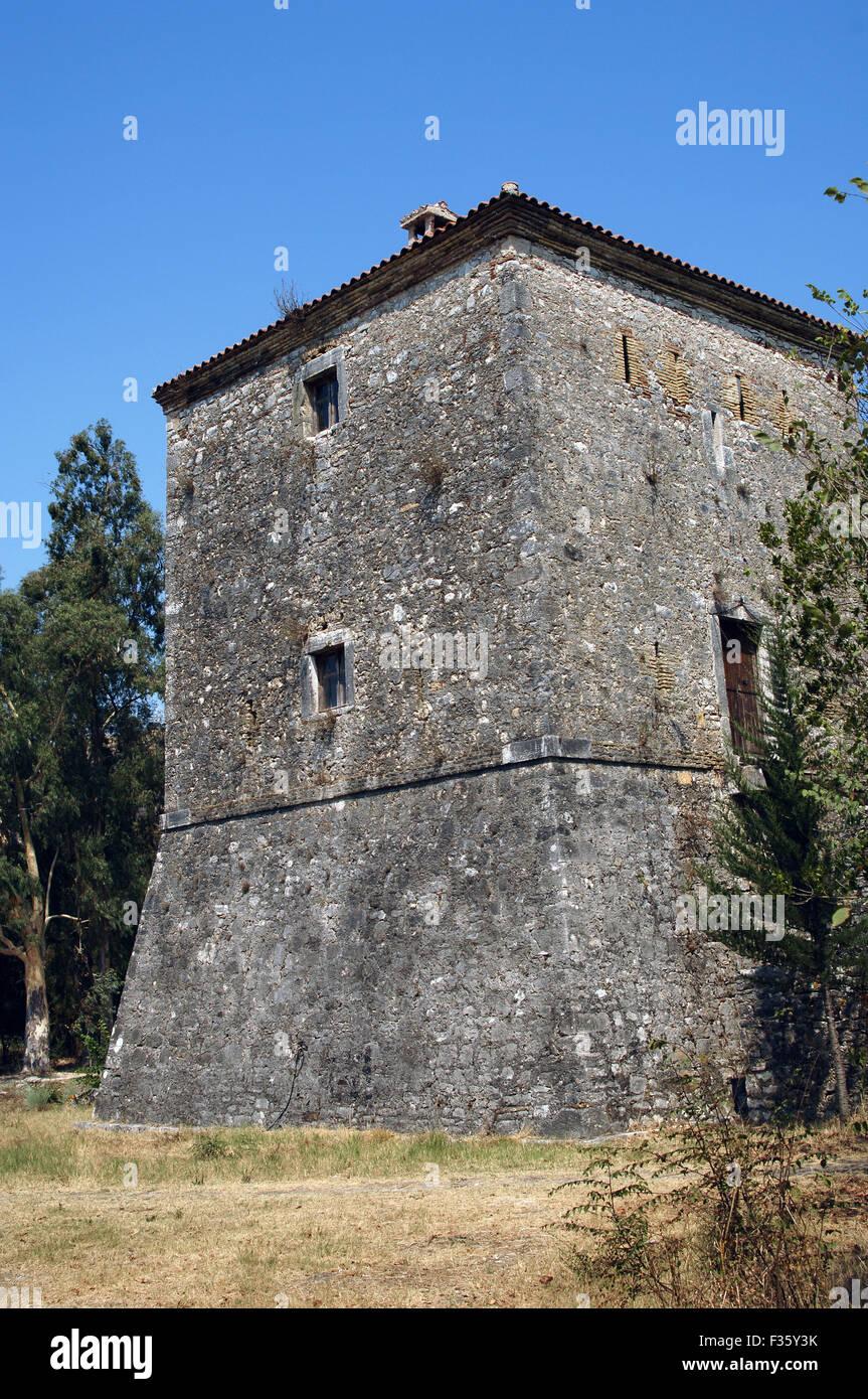 Albanien. Butrint. Venezianischen Turm. 15. und 16. Jahrhundert. Stockbild