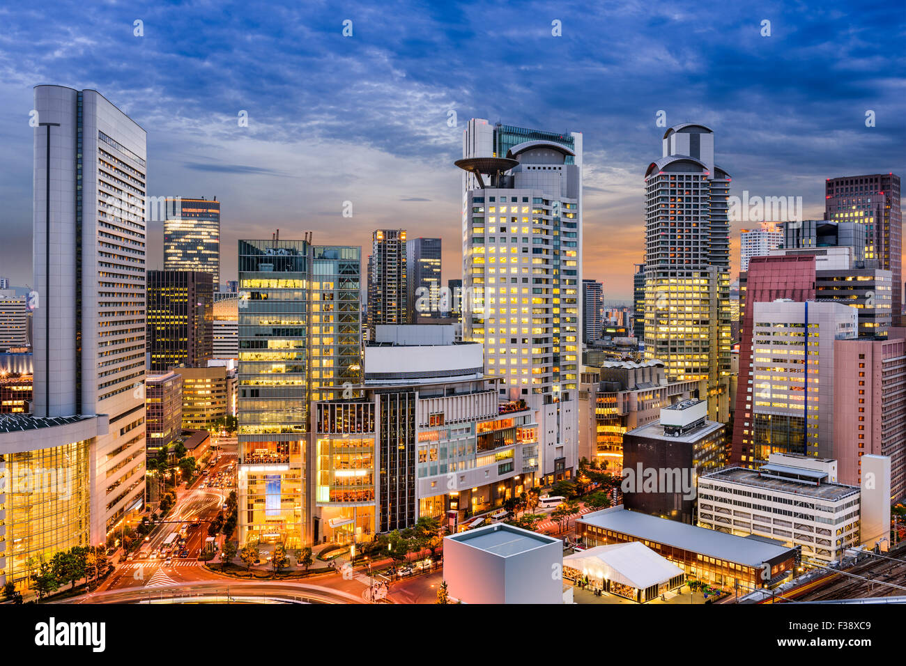 Osaka, Japan Stadtbild in Umeda. Stockbild
