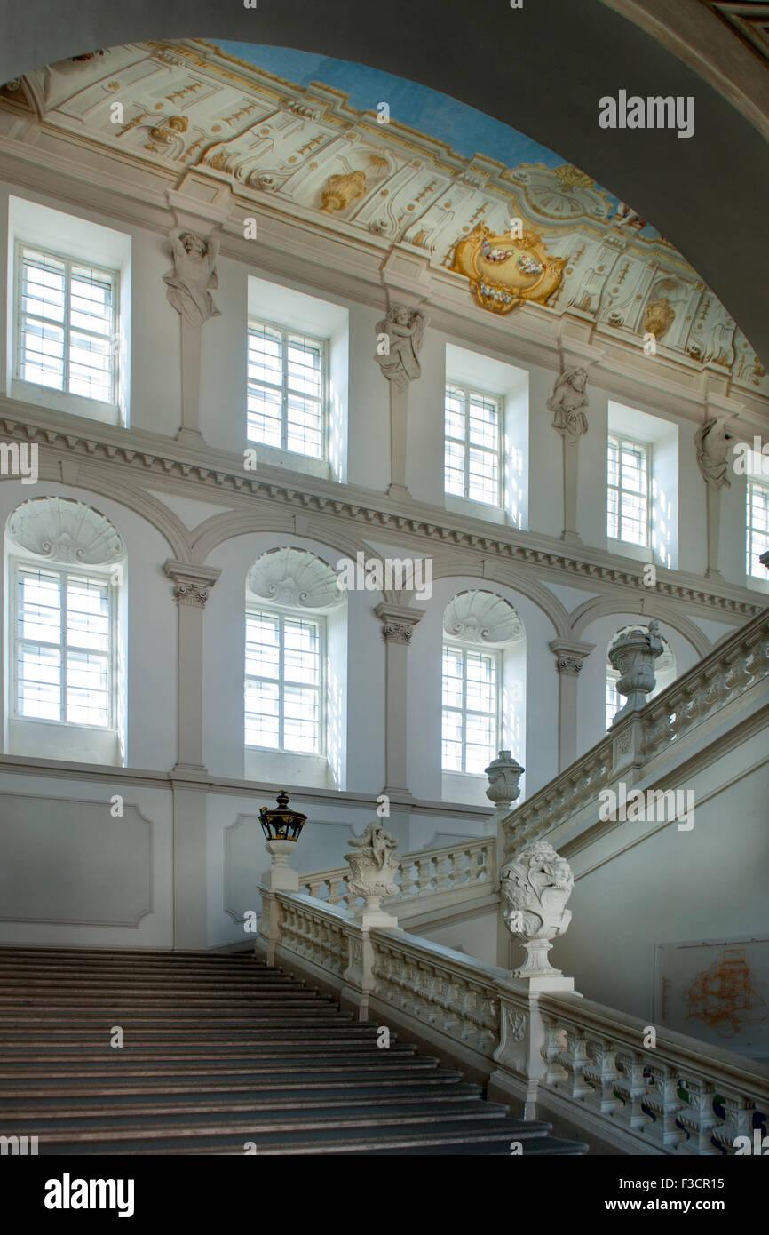 Österreich, Niederösterreich, Krems, Stift Göttweig, kaiserstiege, sterben figurale Ausstattung mit Stockbild