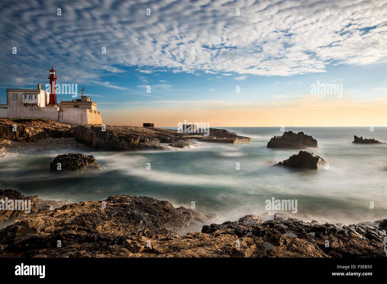 Leuchtturm, Cabo Raso, Cascais, Portugal: 2015 Stockbild