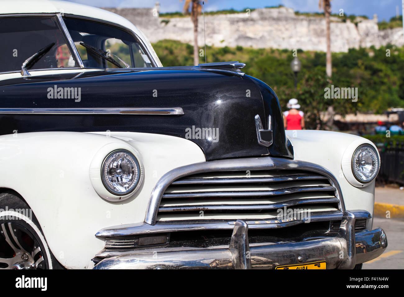 Karibik-Kuba-Havanna-Oldtimer Stockbild