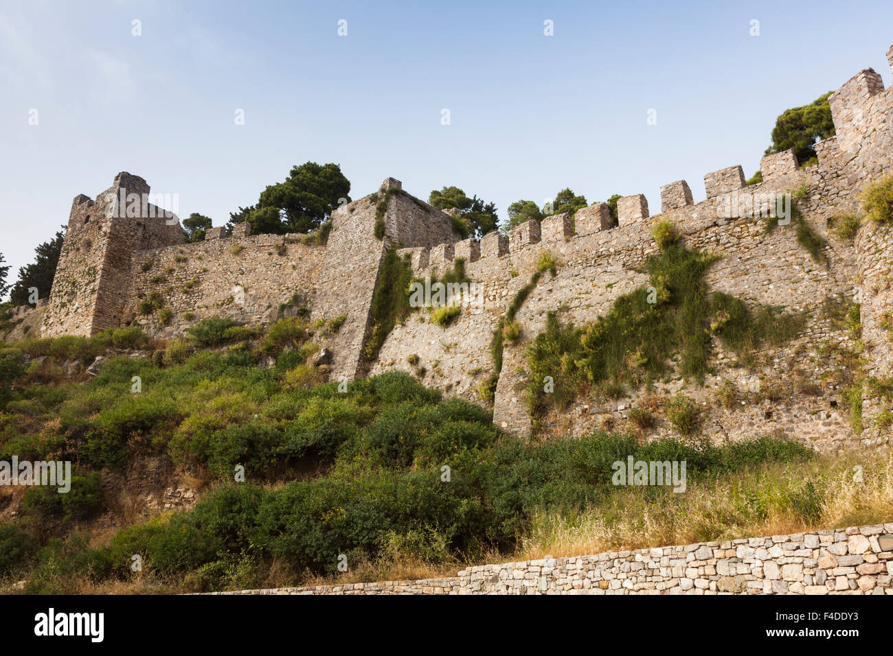 Griechenland, Westgriechenland, Nafpaktos, Zitadelle, venezianische Festung Stockbild