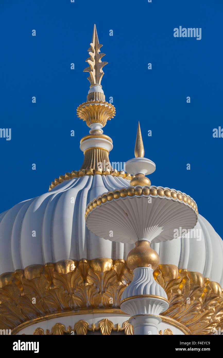 USA, New Jersey, Atlantic City, Promenade und Trump Taj Mahal Hotel und Casino, morgen Stockbild