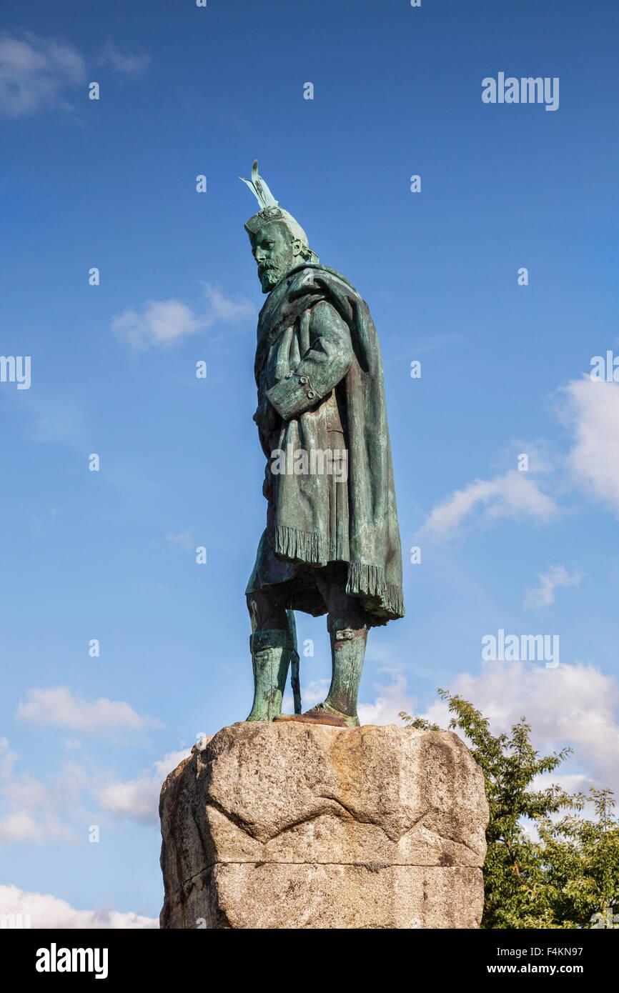Statue von Donald Cameron of Lochiel, Fort William, Highland, Schottland, UK Stockbild