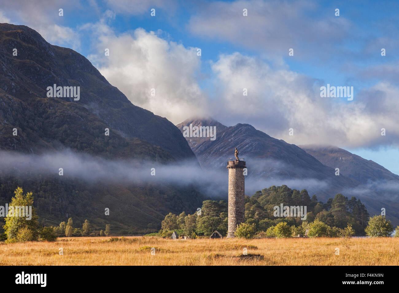 Glenfinnan Monument, Lochaber, Highland, Schottland, UK Stockbild