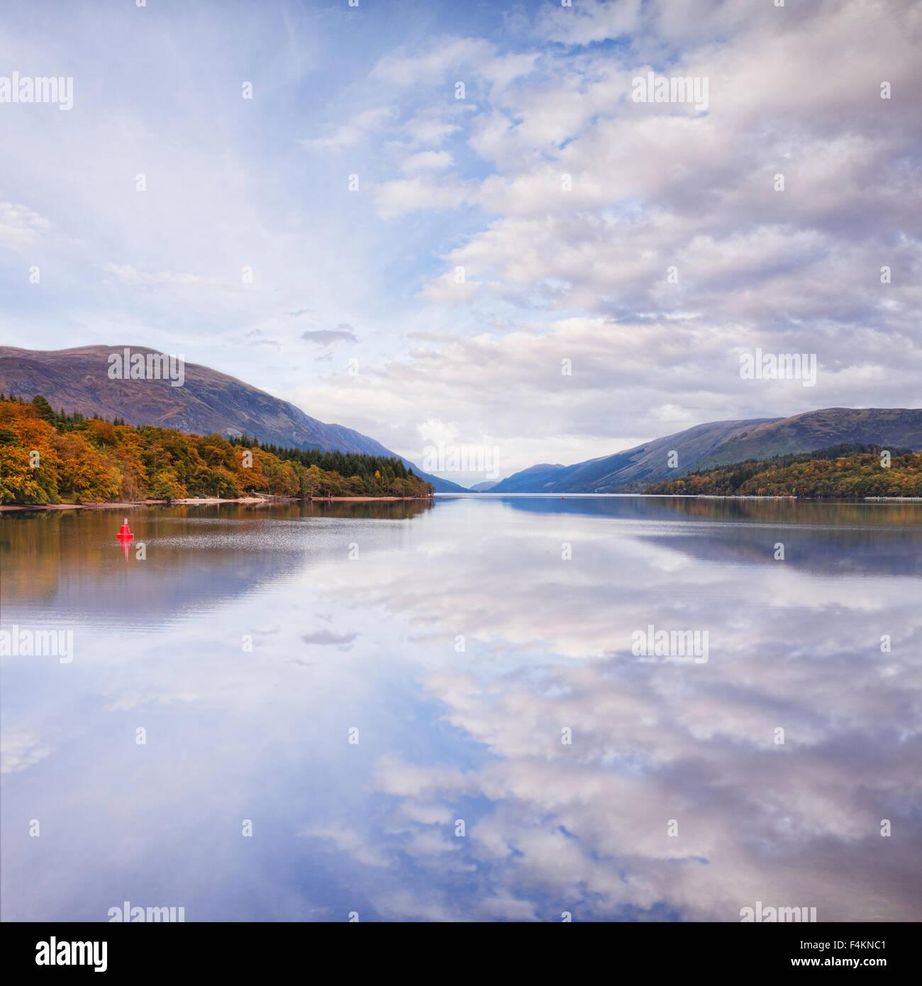 Herbst, Loch Lochy, Highland, Schottland. UK Stockbild