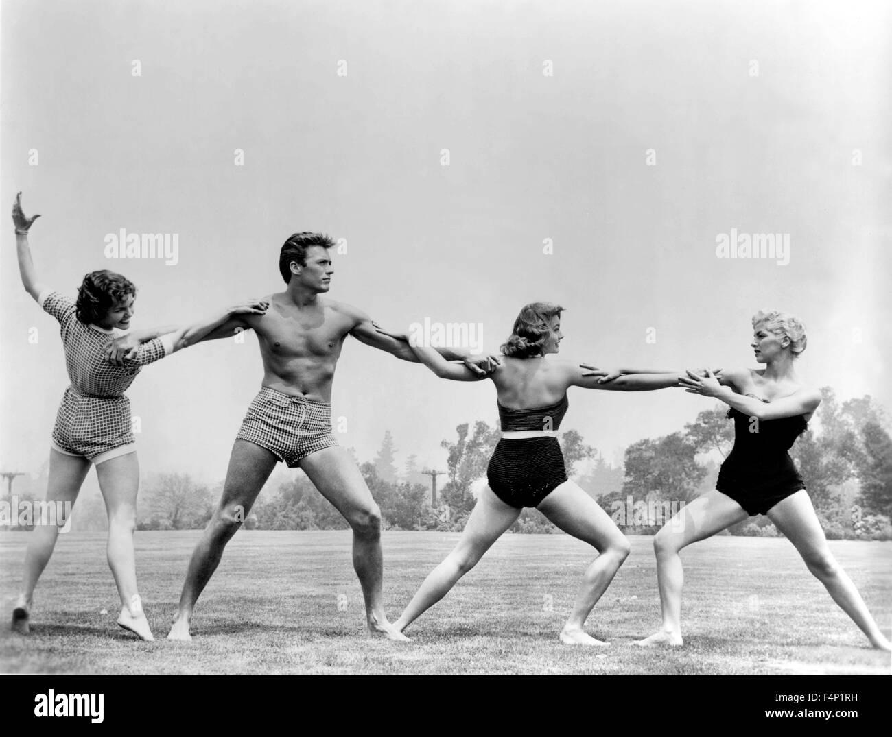 Clint Eastwood 1955 Stockbild