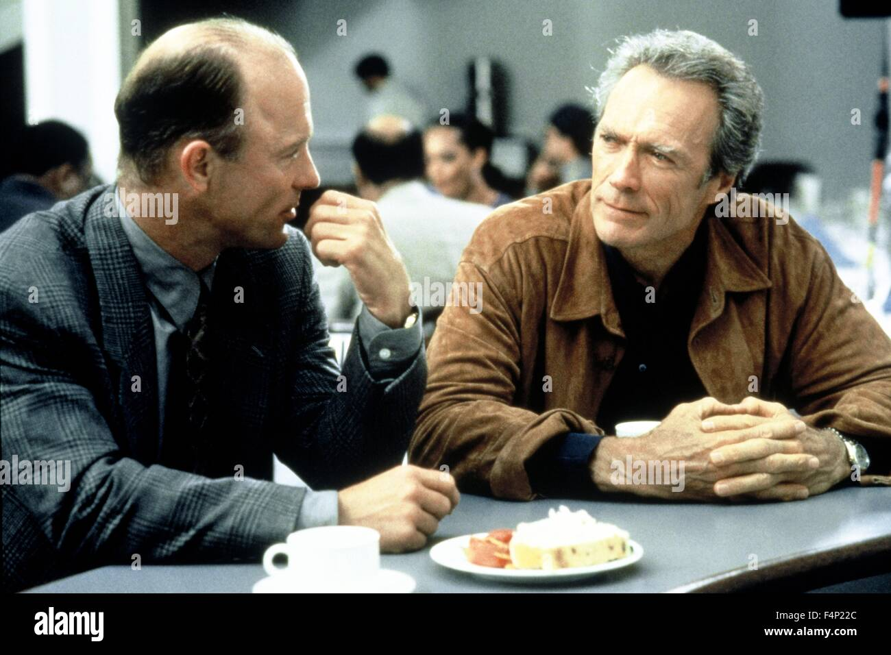Ed Harris, Clint Eastwood / Absolute Power 1997 unter der Regie von Clint Eastwood Stockbild