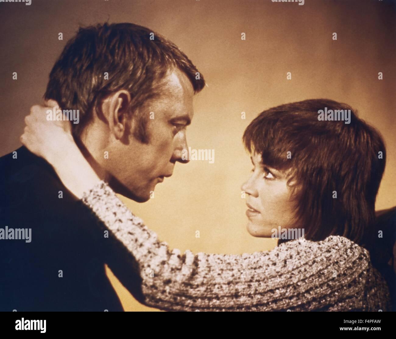 Jane Fonda und Donald Sutherland / Klute / 1971 unter der Regie von Alan J Pakula Stockbild