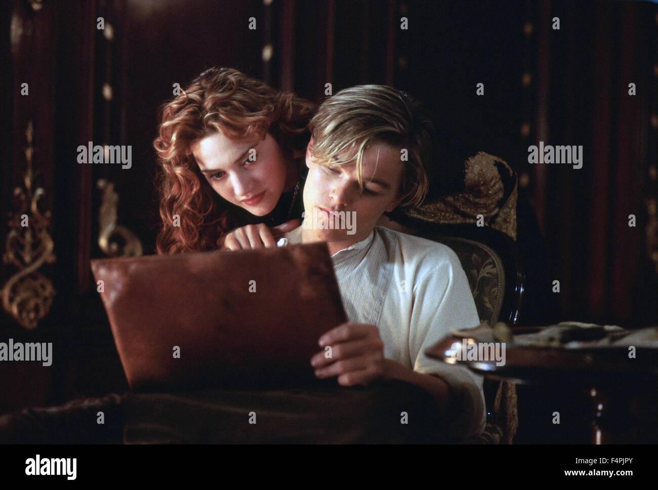 Leonardo DiCaprio und Kate Winslet / Titanic / 1997 unter der Regie von James Cameron [zwanzigsten Jahrhundert Fox Stockbild
