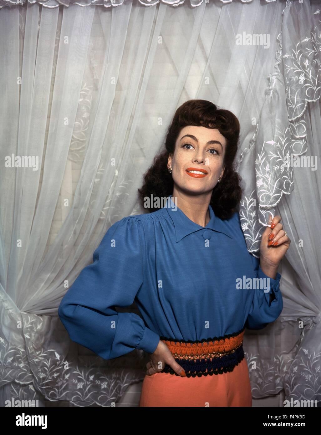 Joan Crawford in den 40er Jahren Stockbild