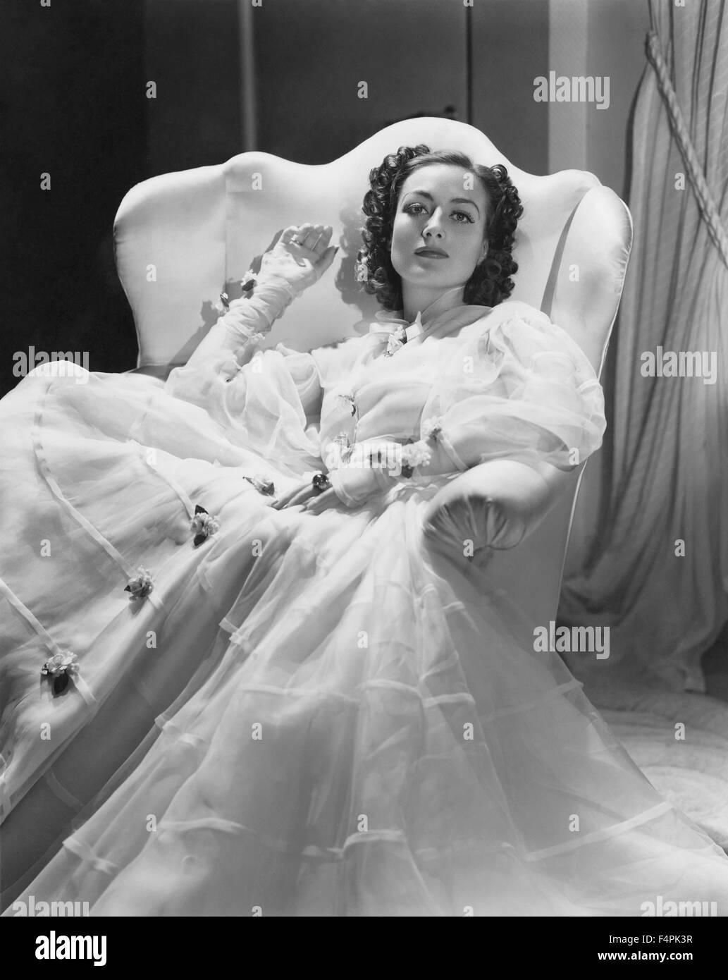 Joan Crawford in den 30er Jahren Stockbild