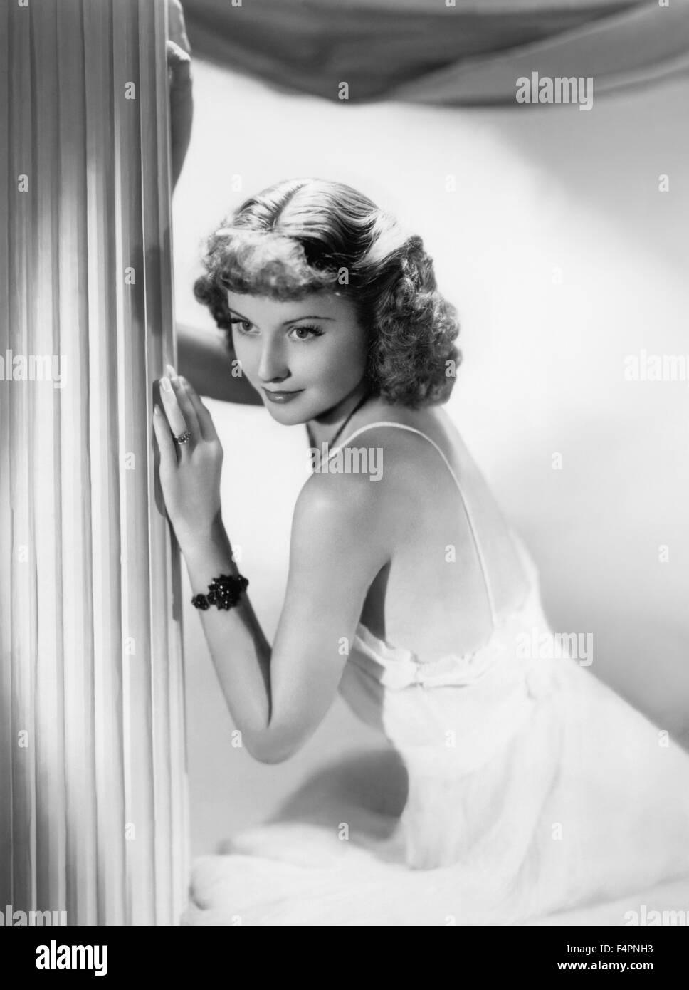 Barbara Stanwyck in den 30er Jahren Stockbild