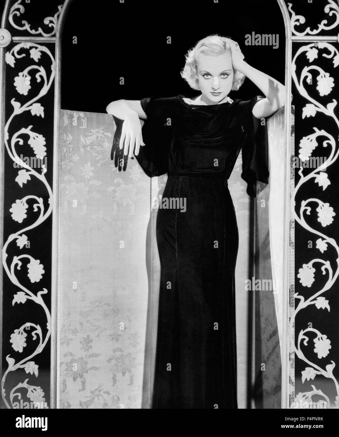 Carole Lombard in den 30er Jahren Stockbild