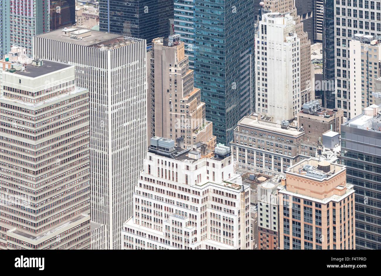 Luftaufnahme von Manhattan, New York City, USA. Stockbild
