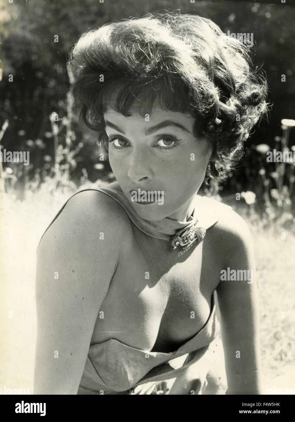 Die britische Schauspielerin Mara Lane Stockbild