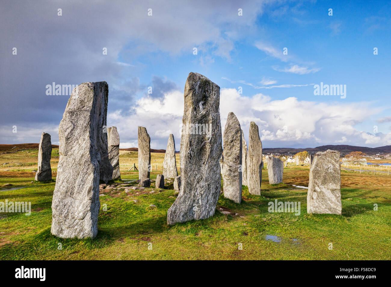 Steinkreis Callanish, Isle of Lewis, Western Isles, äußeren Hebriden, Schottland, UK Stockbild
