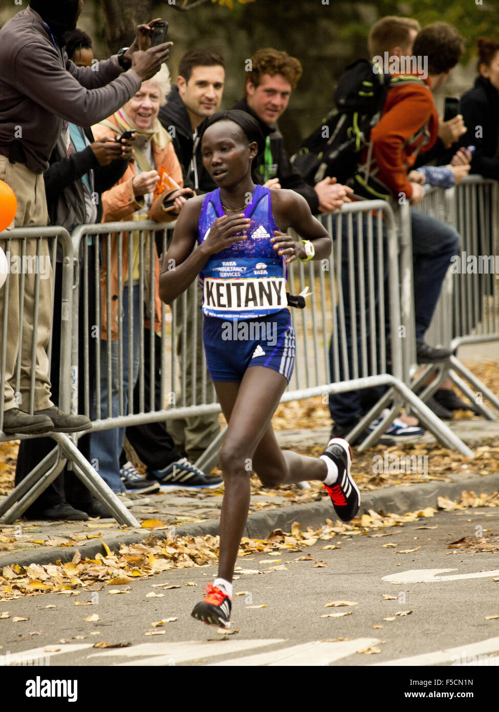 New York, New York, USA. 1. November 2015. New York City-Marathon. NYC Marathon, Central Park, New York, NY USA, Stockbild