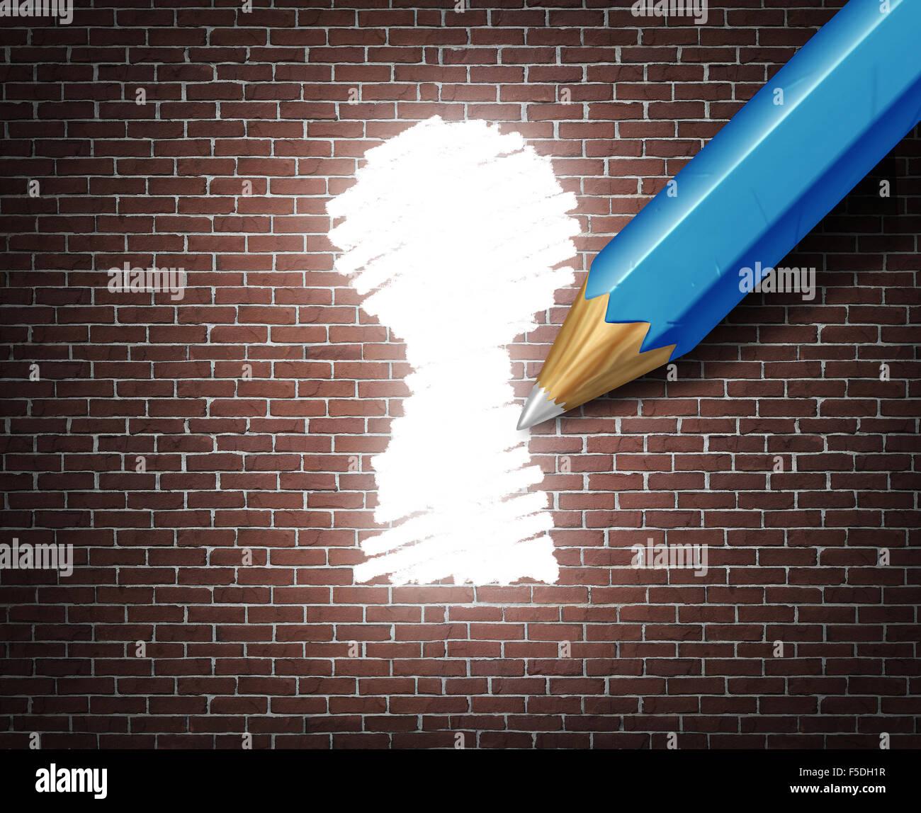 Möglichkeit Idee Geschäftskonzept Als Weiße Spitzen Bleistift