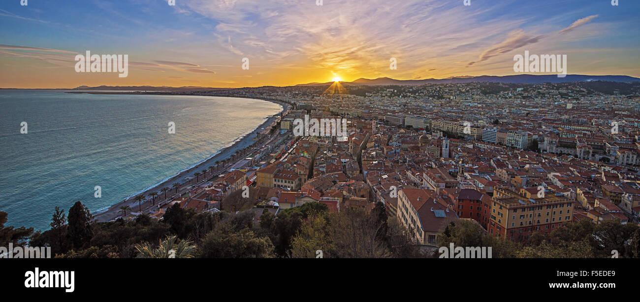 Stadt von Nizza Stockbild