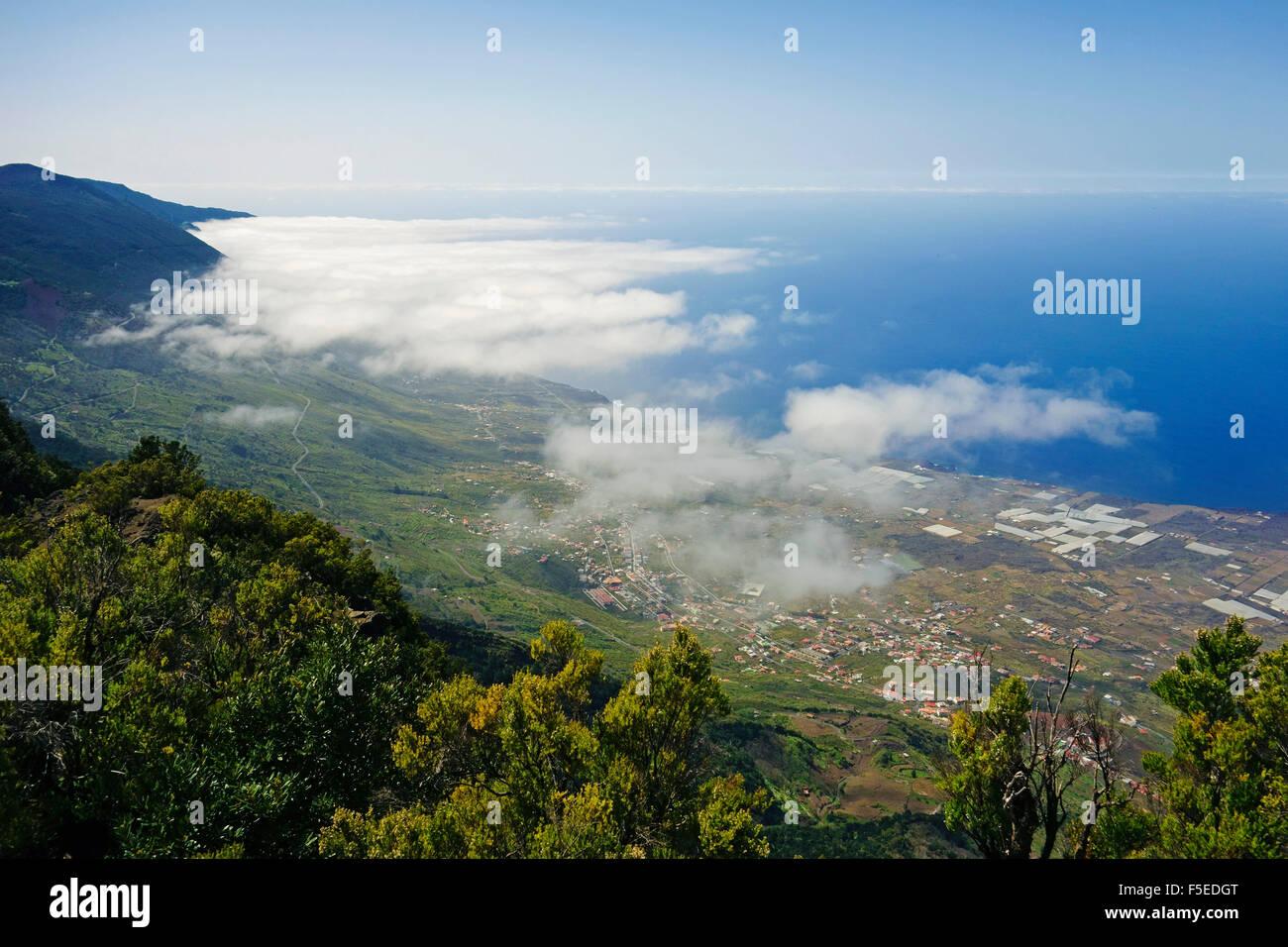 Las Puntas und El Golfo Bay, gesehen von Tibataje, El Hierro, Kanarische Inseln, Spanien, Atlantik, Europa Stockfoto