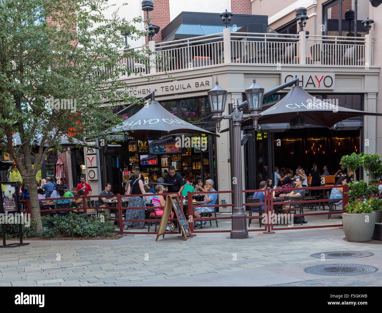Las Vegas, Nevada. Chayo mexikanische Küche und Tequila Bar, die ...