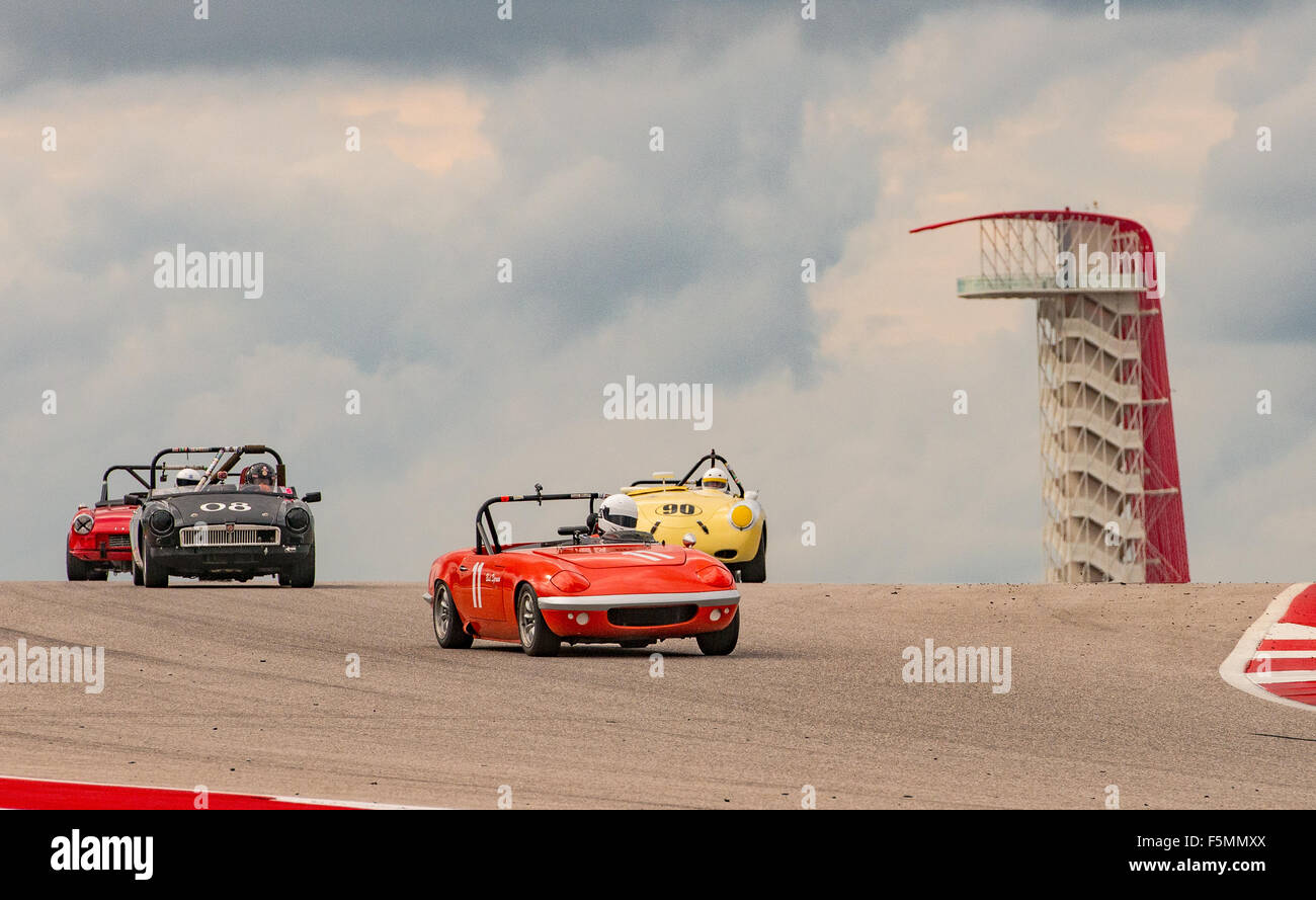 Sportscar Vintage Racing Circuit of the Americas, Austin, Texas. Stockbild