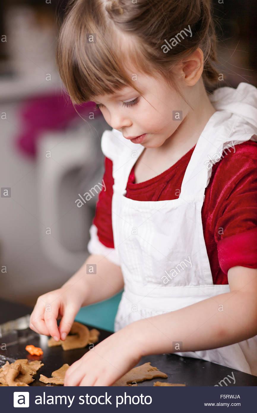 Schweden, die Lebkuchen Mädchen (4-5) Stockbild