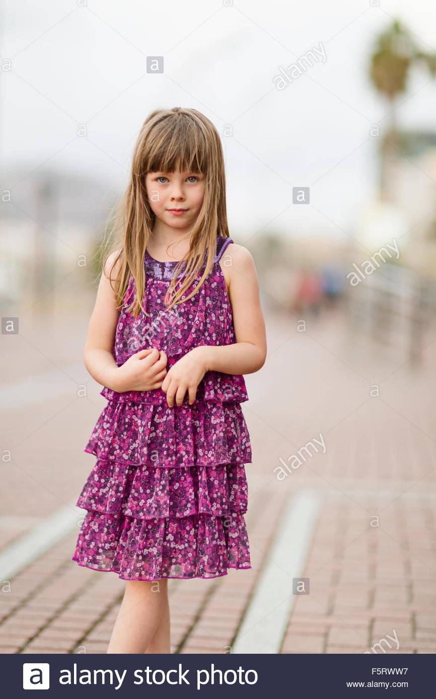 Spanien, Las Palmas, Porträt von kleinen Mädchen (4-5) Stockbild