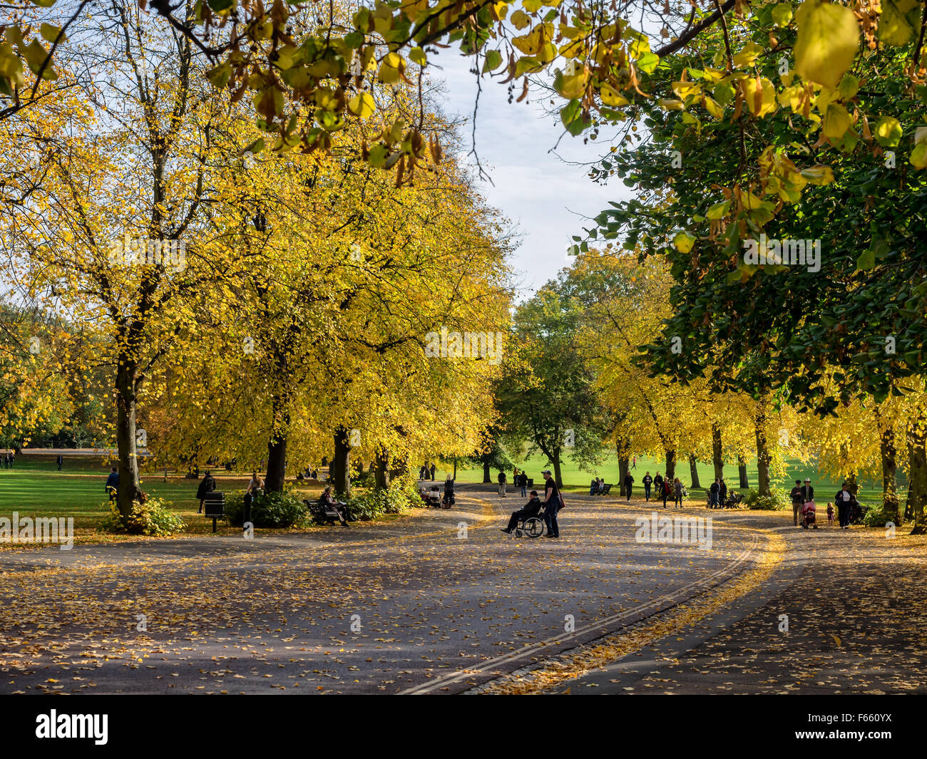 Öffentlicher Park in Greenwich Village, London UK Stockbild