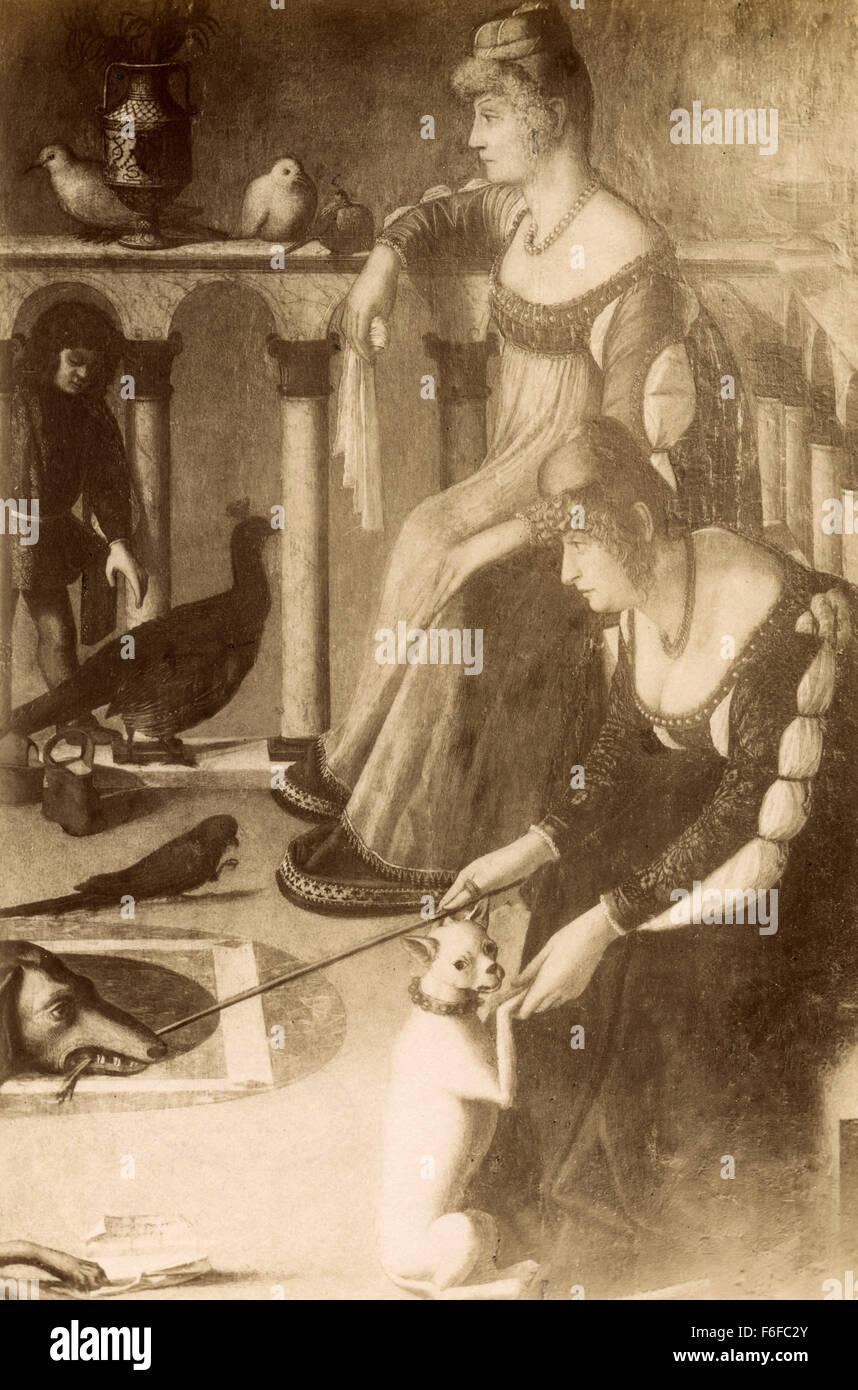 Dame venezianischen Gemälde von Carpaccio Stockbild