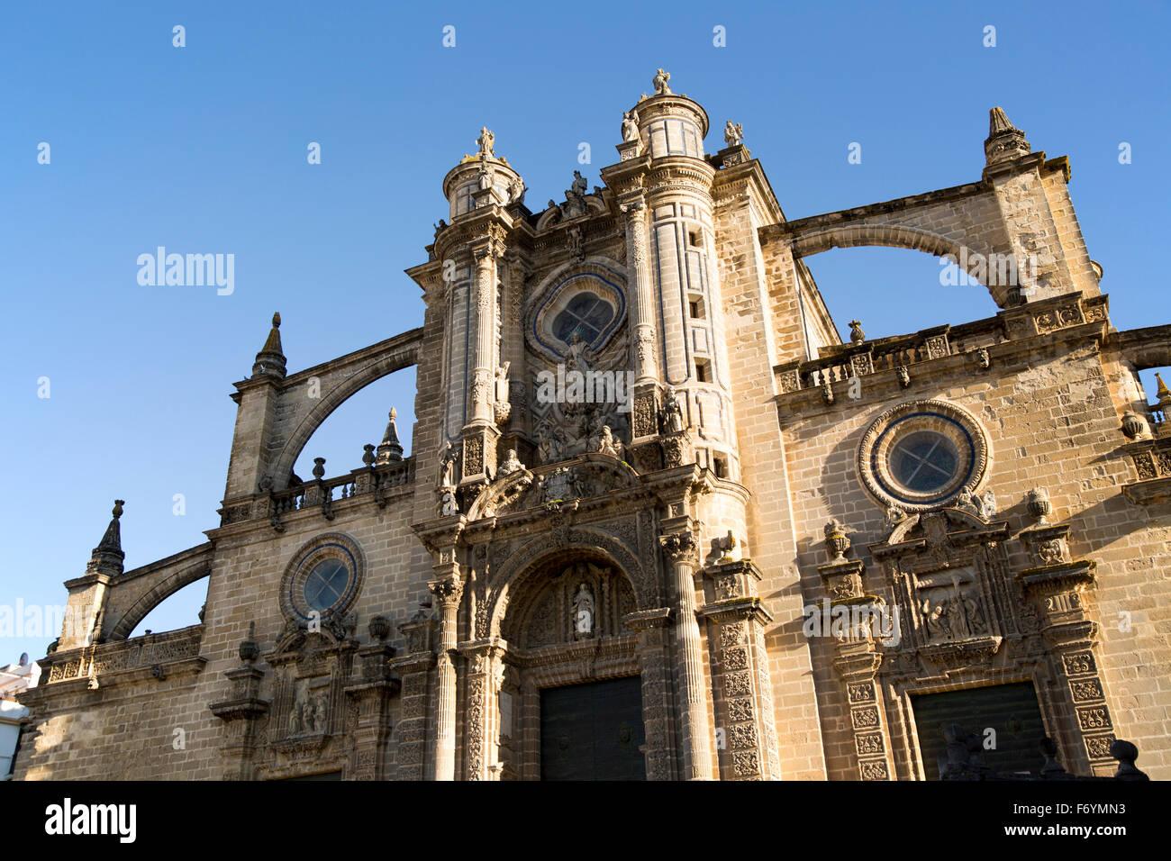 Kathedrale Kirche in Jerez de la Frontera, Provinz Cadiz, Spanien Stockbild
