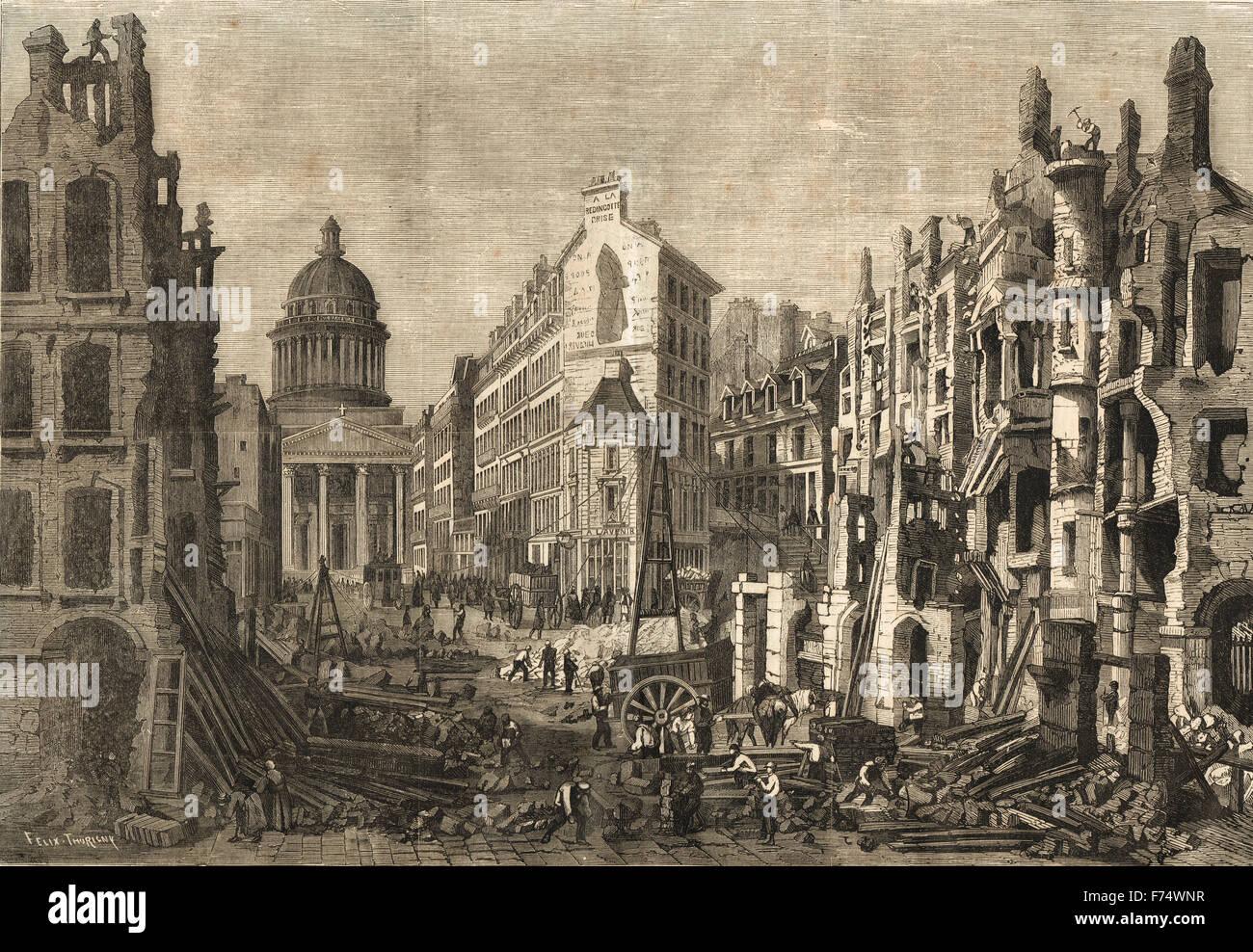 Paris Abrisse Quartier Latin 1860 Stockbild