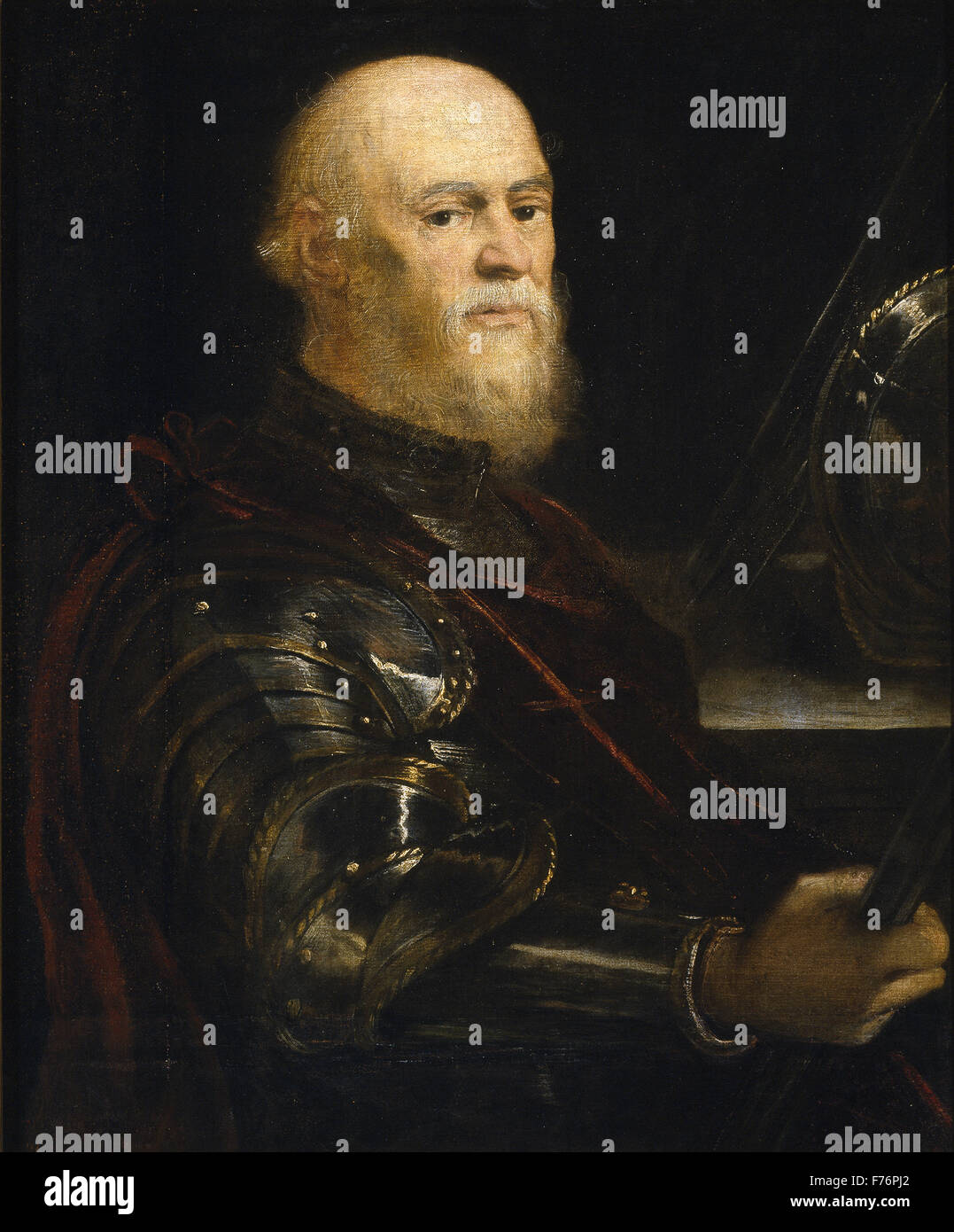 Jacopo Tintoretto - ein venezianischer Admiral Stockbild