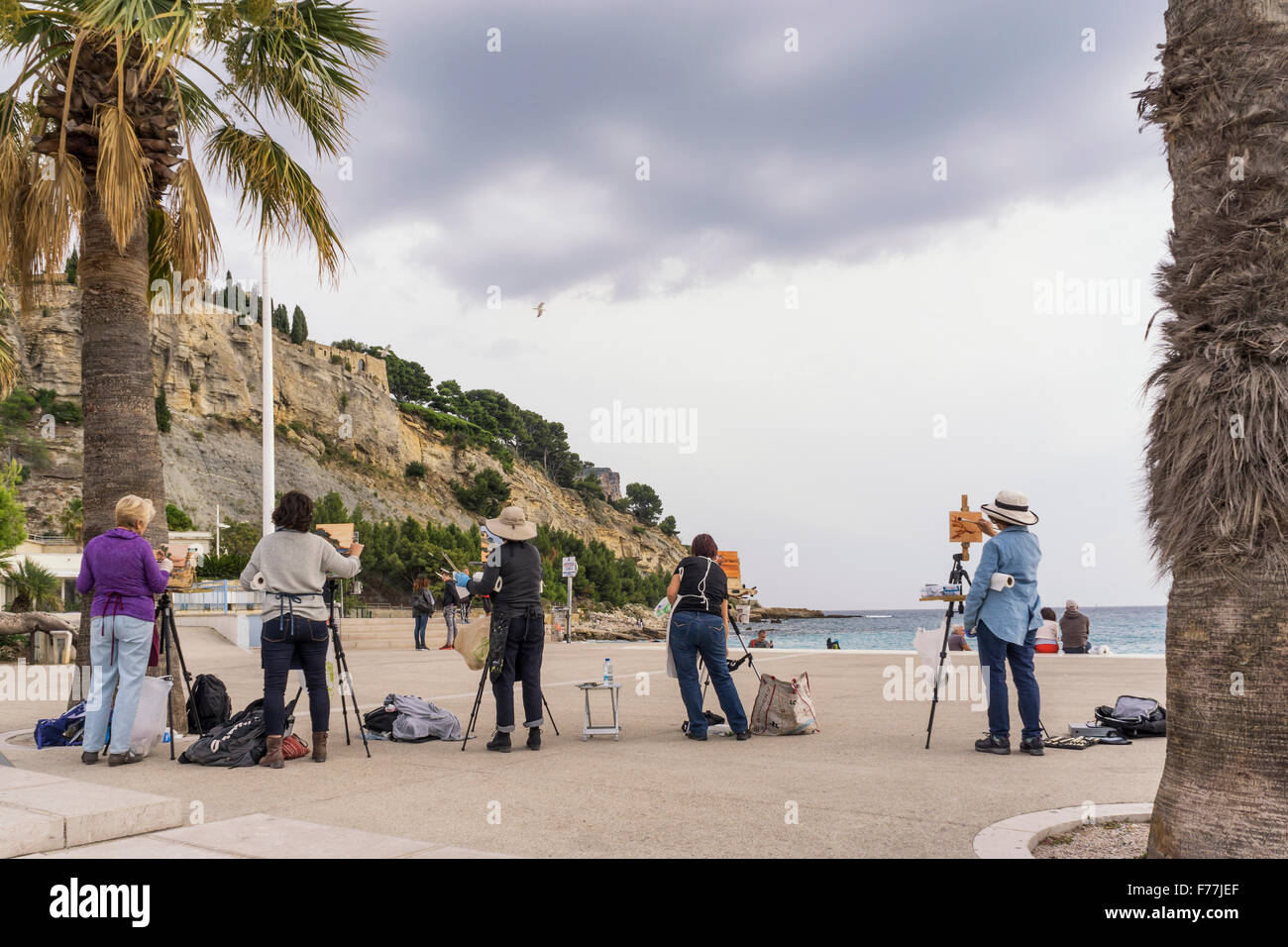 Hobbykünstler, Werkstatt, Cassis, Côte d ' Azur Frankreich Stockbild