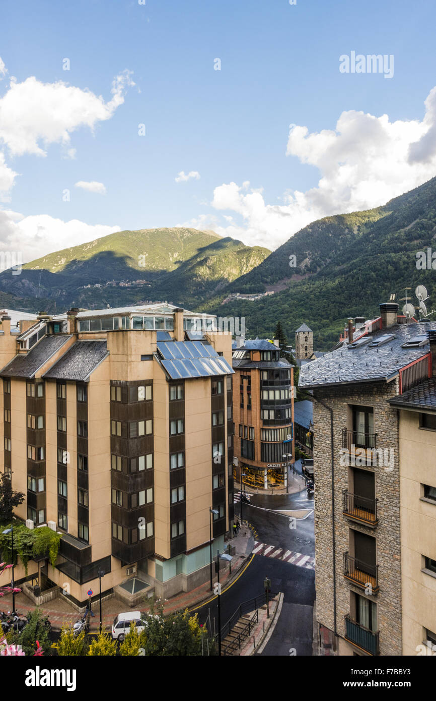 Andorra la Vella, Hauptstadt Andorra, Andorra Stockbild