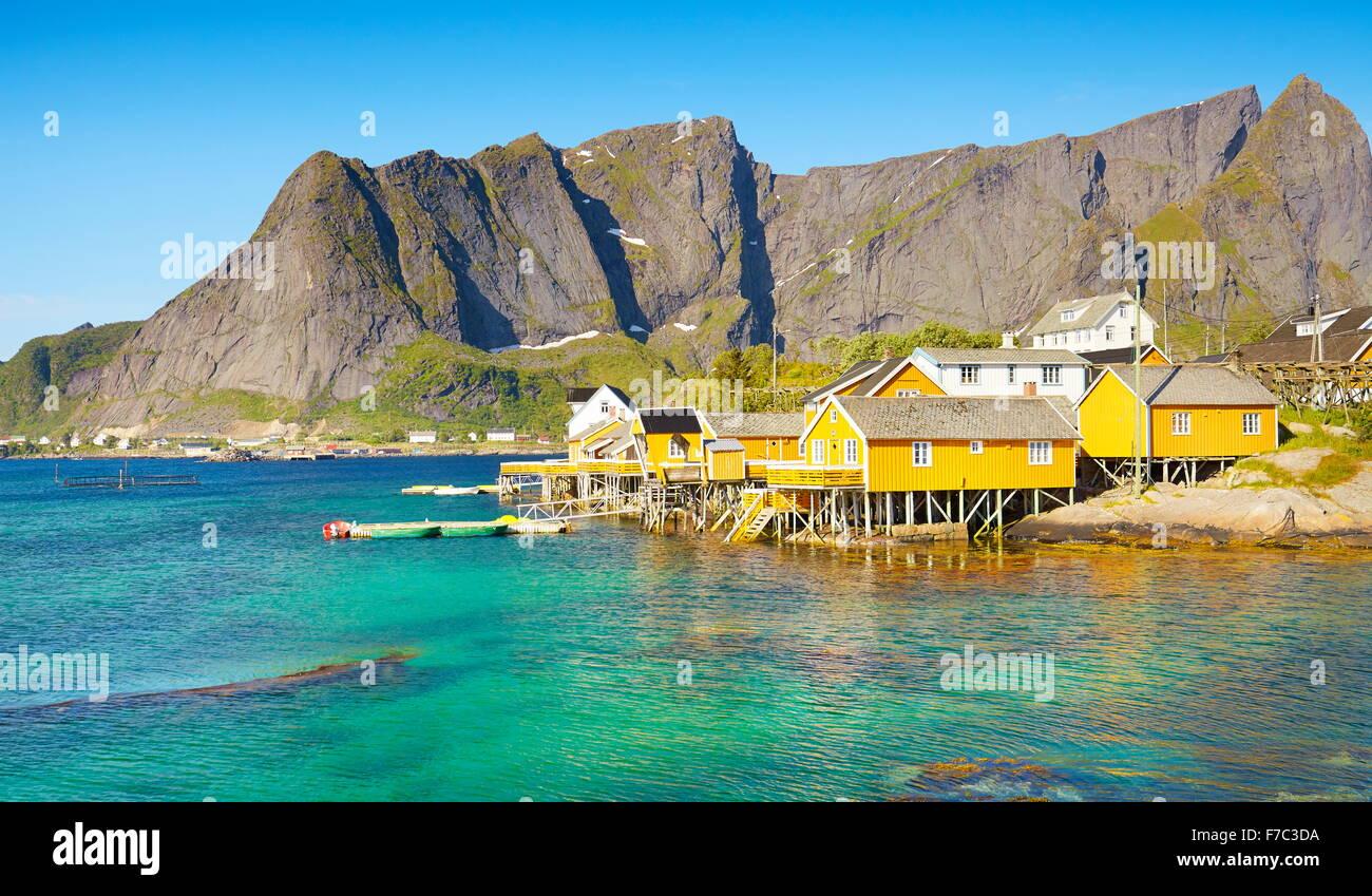 Lofoten-Inseln, Moskenes, Norwegen Stockbild