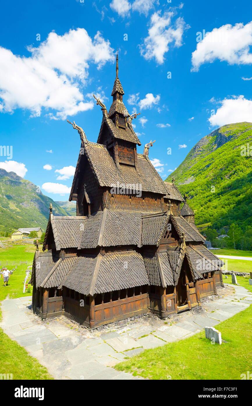 Borgund Stabkirche, Sogn Og Fjordane, Norwegen Stockbild