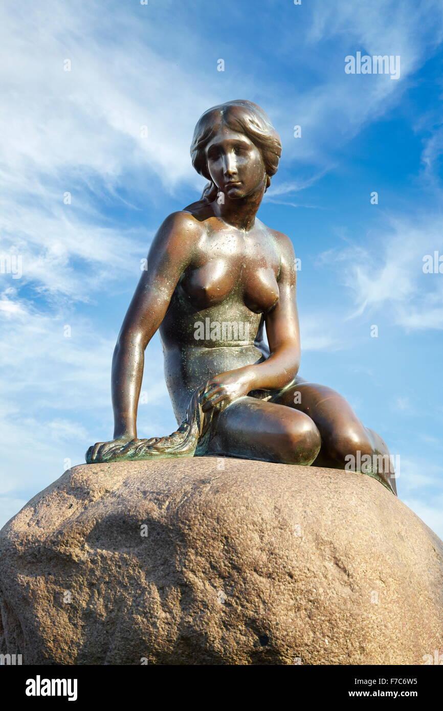 Die Statue der kleinen Meerjungfrau, Kopenhagen, Dänemark Stockbild