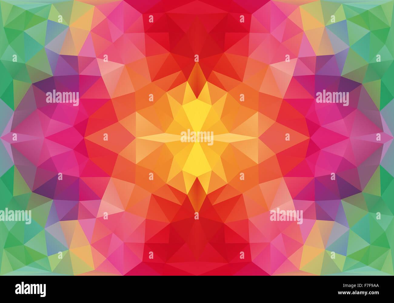 abstrakte florale geometrische Polygon Muster, nahtlose Vektor Hintergrund Stockbild