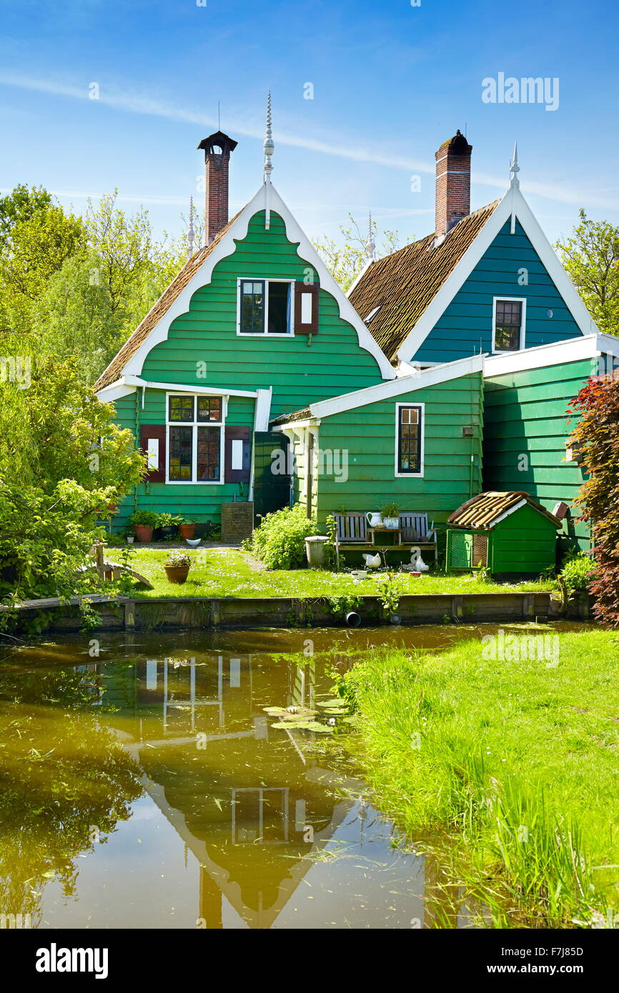 Traditionelle Architektur in Zaanse Schans - Holland Niederlande Stockbild