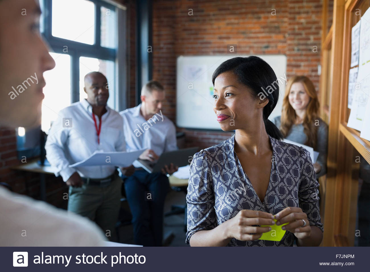 Geschäftsleute, brainstorming im meeting Stockbild