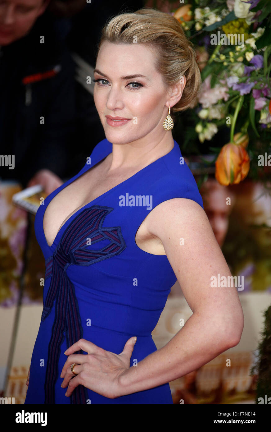 13. April 2015 - London, England, UK - Kate Winslet Besuch ein wenig Chaos UK Premiere, Odeon Kensington Stockbild