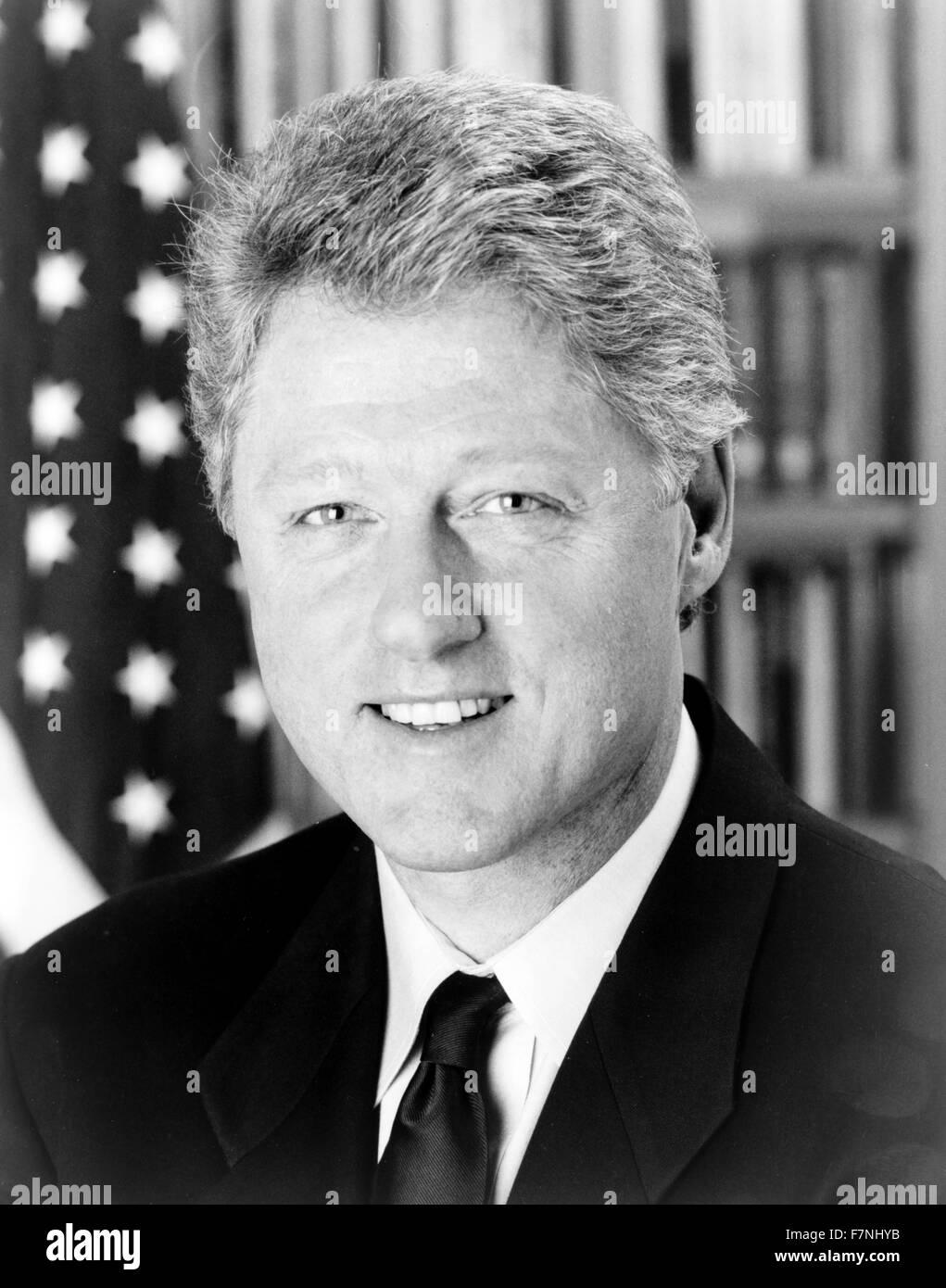 """William Jefferson """"Bill"""" Clinton (geb. 1946), US-amerikanischer Politiker und zwischen 1993 bis 2001 Präsident Stockbild"""