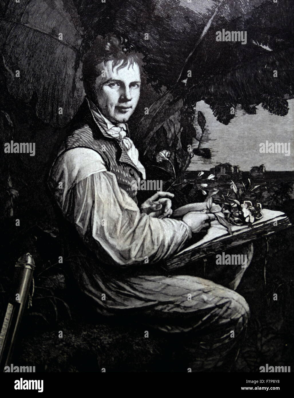Alexander von HUMBOLDT - 1769-1859 Stockbild