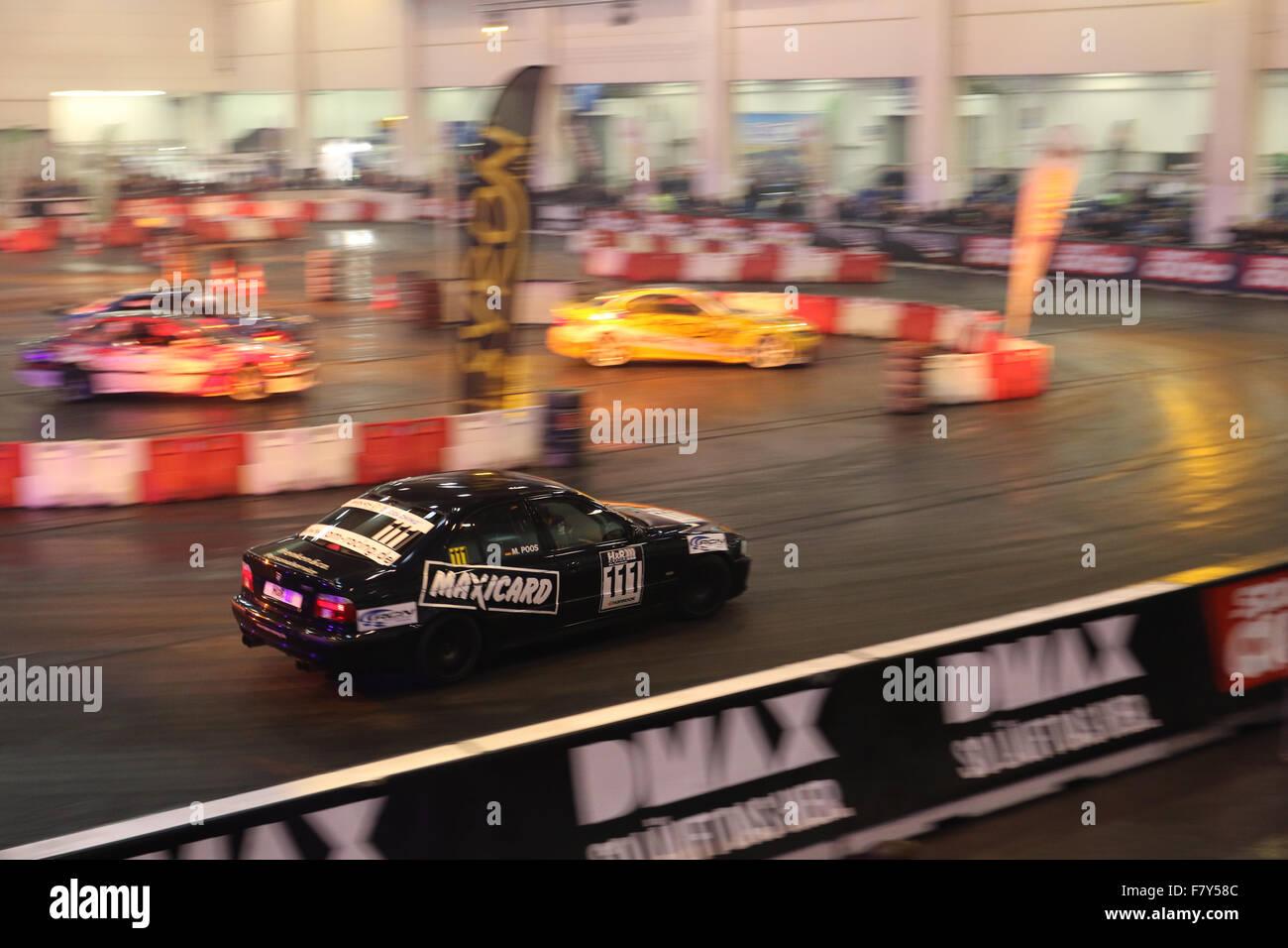 Essen, Deutschland. 3. Dezember 2015. DMAX Motorsport Arena auf der 2015 Essen Motor Show. Bildnachweis: Ashley Stockbild