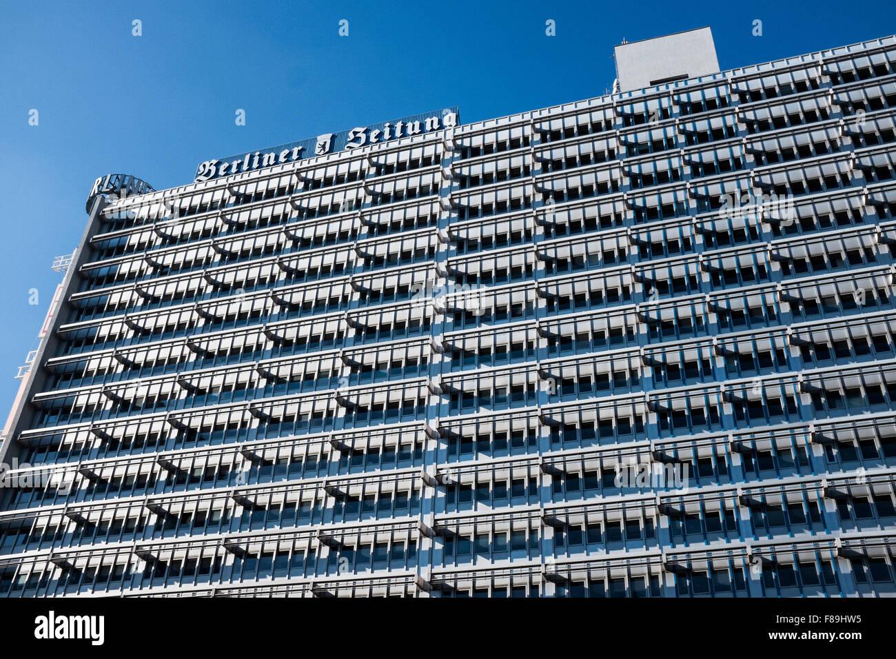 Haus des Berliner Verlags, Berlin, Deutschland Stockbild