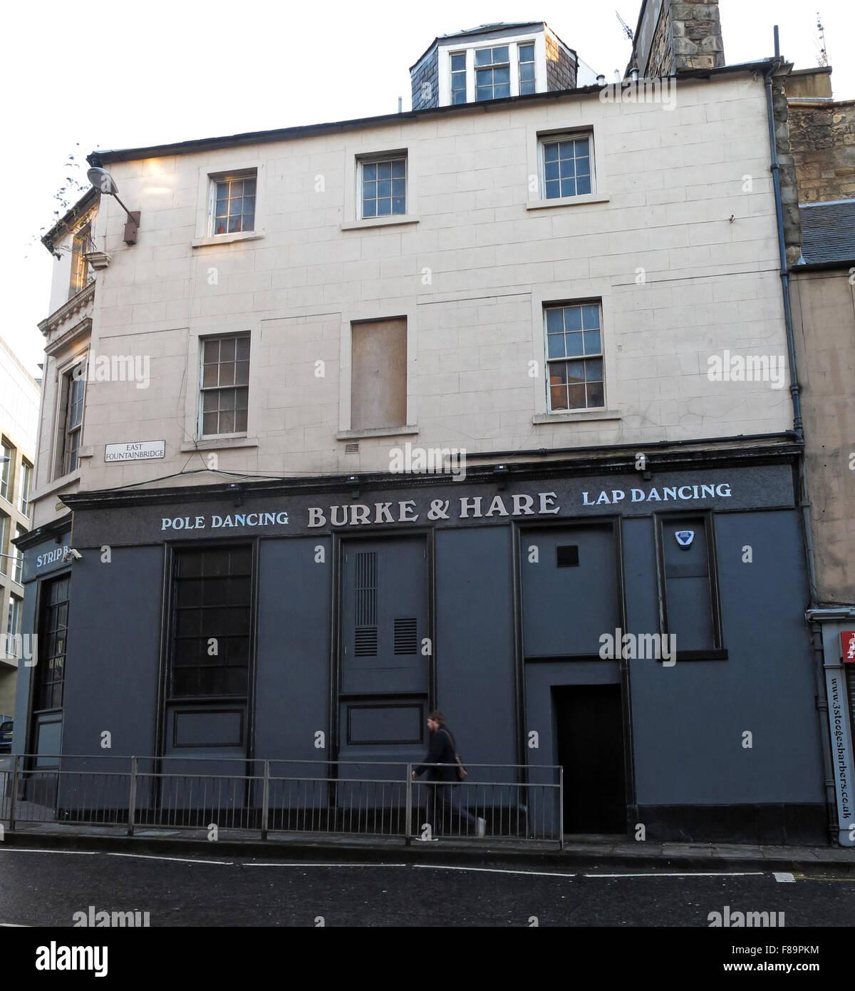 Laden Sie dieses Alamy Stockfoto Die Burke & Hase Pol und Lapdance-Kneipe, Pubic Dreieck, hohe Riggs, Edinburgh, Scotland, UK - F89PKM