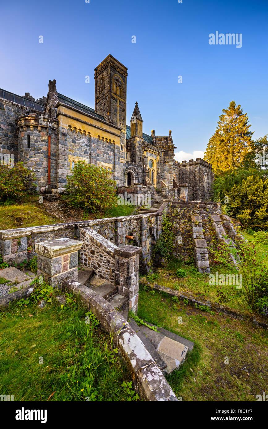 St Conans Kirk befindet sich im Loch Awe, Argyll and Bute, Scotland Stockbild
