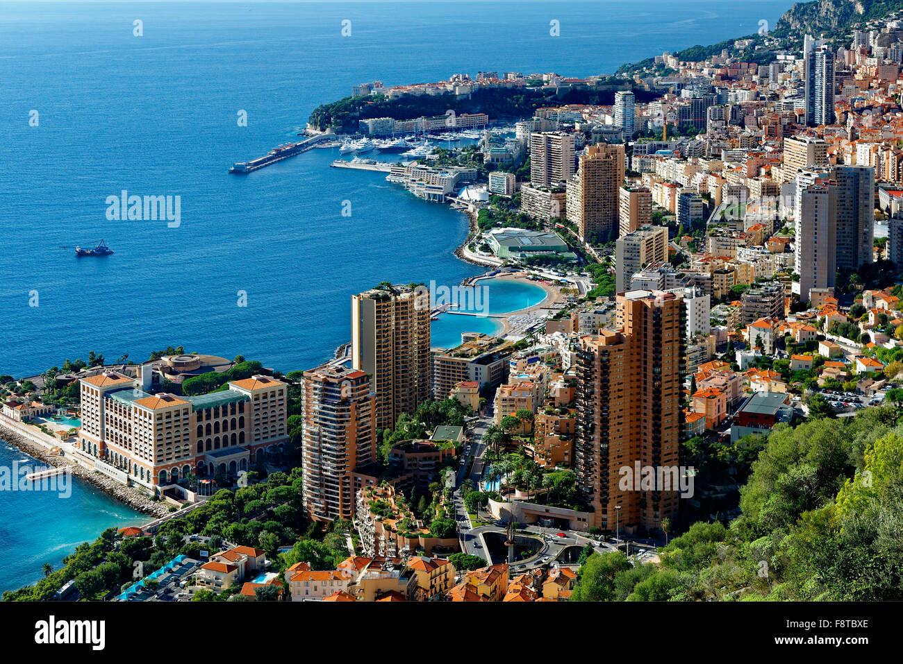 Monaco, Blick auf die Stadt Stockbild